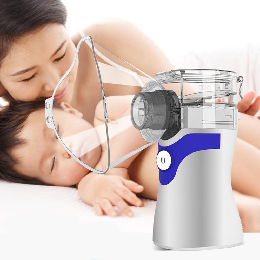 Human - Portable Ultrasonic Nebulizer Respirator Humidifier Atomizer silent inhaler nebuliser Adults Children Home Inhaler Machine
