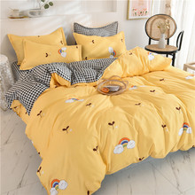 Bedding-Set Pillow-Case Duvet-Cover Flat-Sheet Adults Family-Size Single King Full-Queen