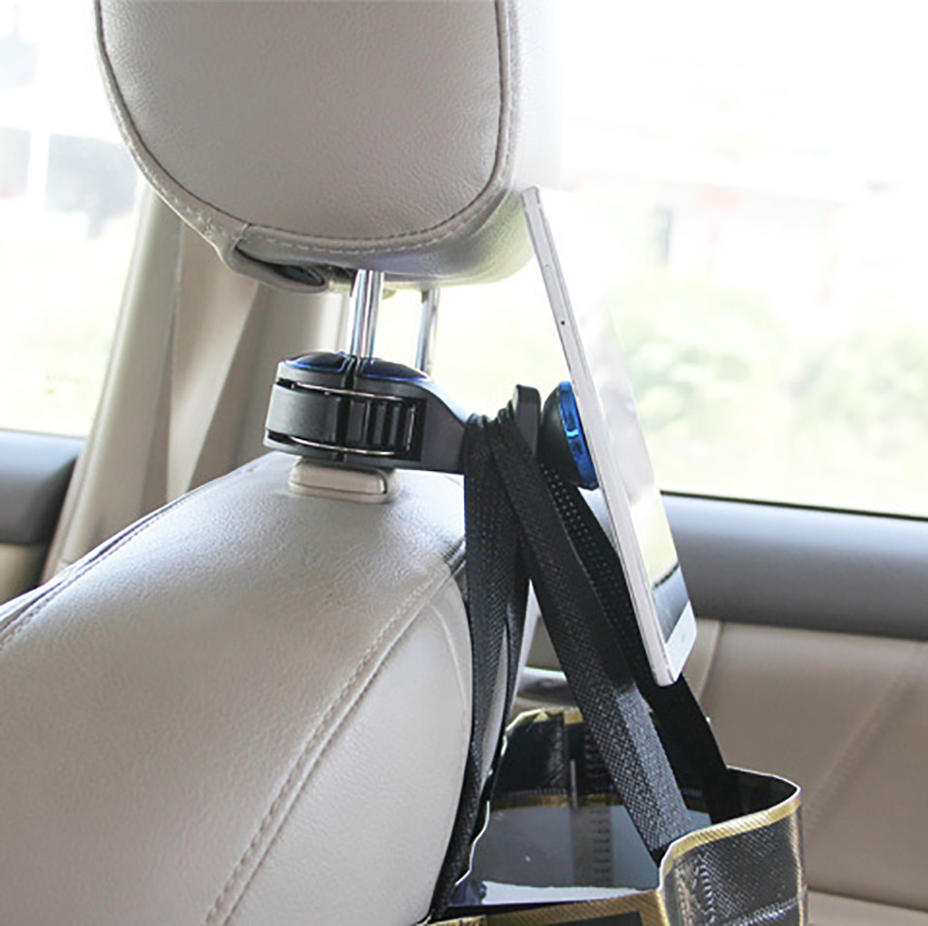 Colgador universal para reposacabezas de coche con mini ganchos de metal XINYUWIN