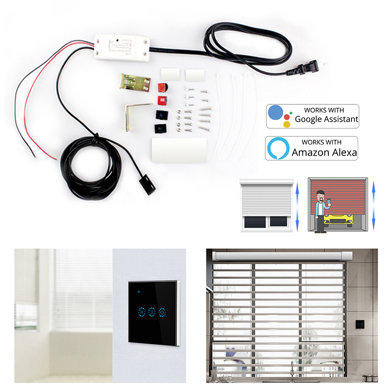WiFi Switch Smart Garage Door Opener Controller with Alexa Google Home and IFTT Smart title=