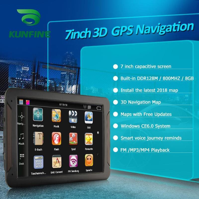 Android Car DVR Navigation With FM Radio 8GB 512M Truck GPS Navigators Rear View Camera Screen Free Map Upgrade Q8  (3)