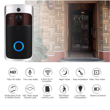 Bell Doorbell-Camera Visual-Intercom Video Wifi Ip-Door Smart Wireless-Home Chime V5