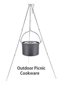 Cookware Hanging Cooking-Pot Outdoor Portable Camping for Hunting Hiking Backpacking