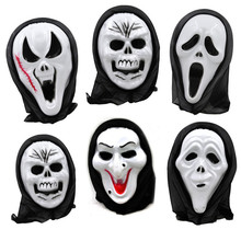 Halloween mask wholesale grimaces head devil screamed whimsy scary host skeleton Halloween props