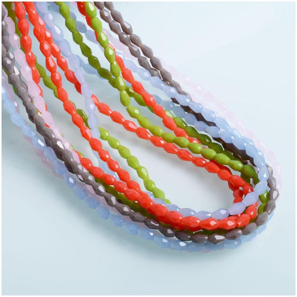 China Beads Factory 3x5mm Teardrop Beads DIY Jewelry Glass Drop Beads For Earrings