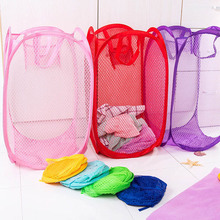 Large Capacity Foldable Mesh Dirty Clothes Basket Pop-Up Laundry Hampers Washing Clothes