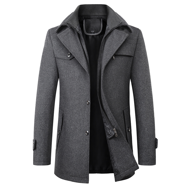 Warm coat Men's woolen jacket / autumn and winter/ jacket men/Leisure business jacket title=