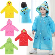 Kids Raincoat Poncho Waterproof Children Cartoon for Student Animal-Style