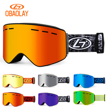 Skiing Eyewear Glasses Snowboard-Mask Ski Goggles Snow-Protection Magnetic Women Double