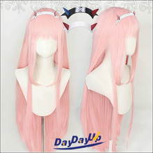 Wig-Cap Synthetic-Hair Role-Play DARLING Halloween Zero 02 Straight Two-Pink Heat-Resistant