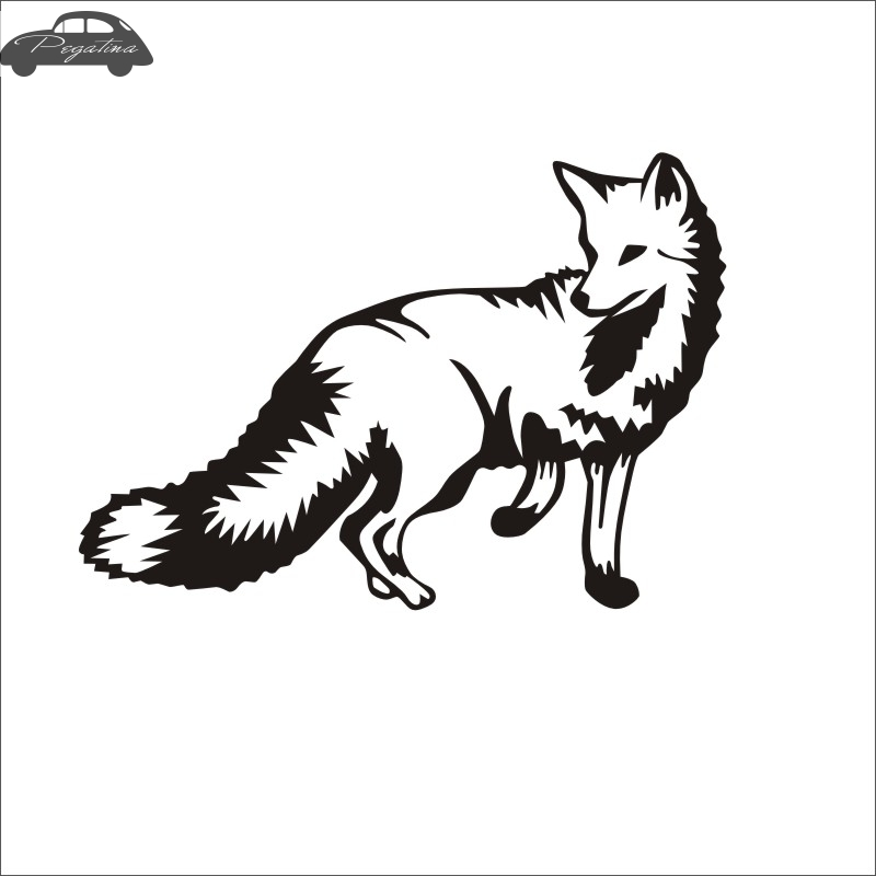 Pegatina Hunt Fox Sticker Hunter Club Decal Gun Shop Hollow Hunting Car Window Vinyl Decal Funny Poster