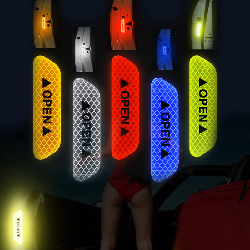 Strip Reflective-Stickers Luminous-Tapes Car-Long-Distance Car-Door Warning Waterproof title=