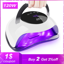 Light Nail-Lamp Timer Smart-Sensor LED All-Kinds-Of-Gel Fast-Curing High-Power 120W