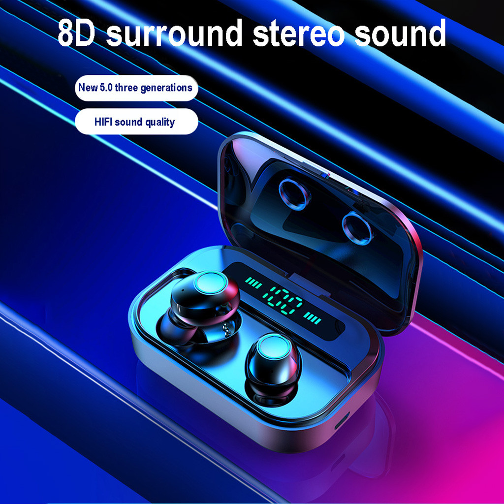 best selling 2019 products 2019 Bluetooth 5.0 Headset TWS Wireless Earphones Mini Earbuds Stereo Headphones support dropshipping