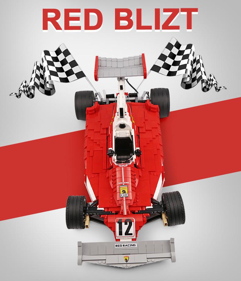 XingBao XB-03023 Red Power Racing Car Ferrariii 312T Building Block 41