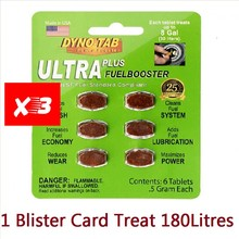 Fuel-Booster Carbon-Cleaner for Petrol Add Luburication Made-In-Usa 3 Blister-Card-Dyno-Tab