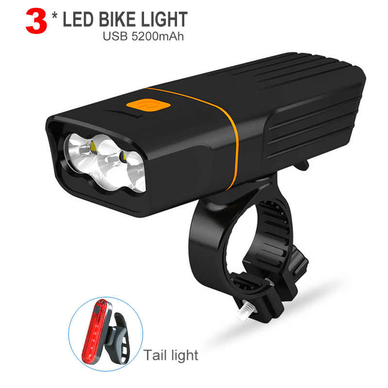 L2 T6 Bicycle Light USB Rechargeable Mobile Power Bank Cycling LED Headlight