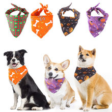 Bibs Pet Saliva Towel Halloween With Costume Puppy Decor Hats For Small Cat Dog Bandage Dog Bib Saliva Towel Pet Accessories(China)