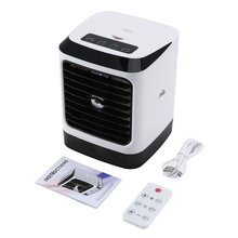 Fan Air-Conditioner Mini Desktop with Remote-Control Humidifier Home-Use Summer