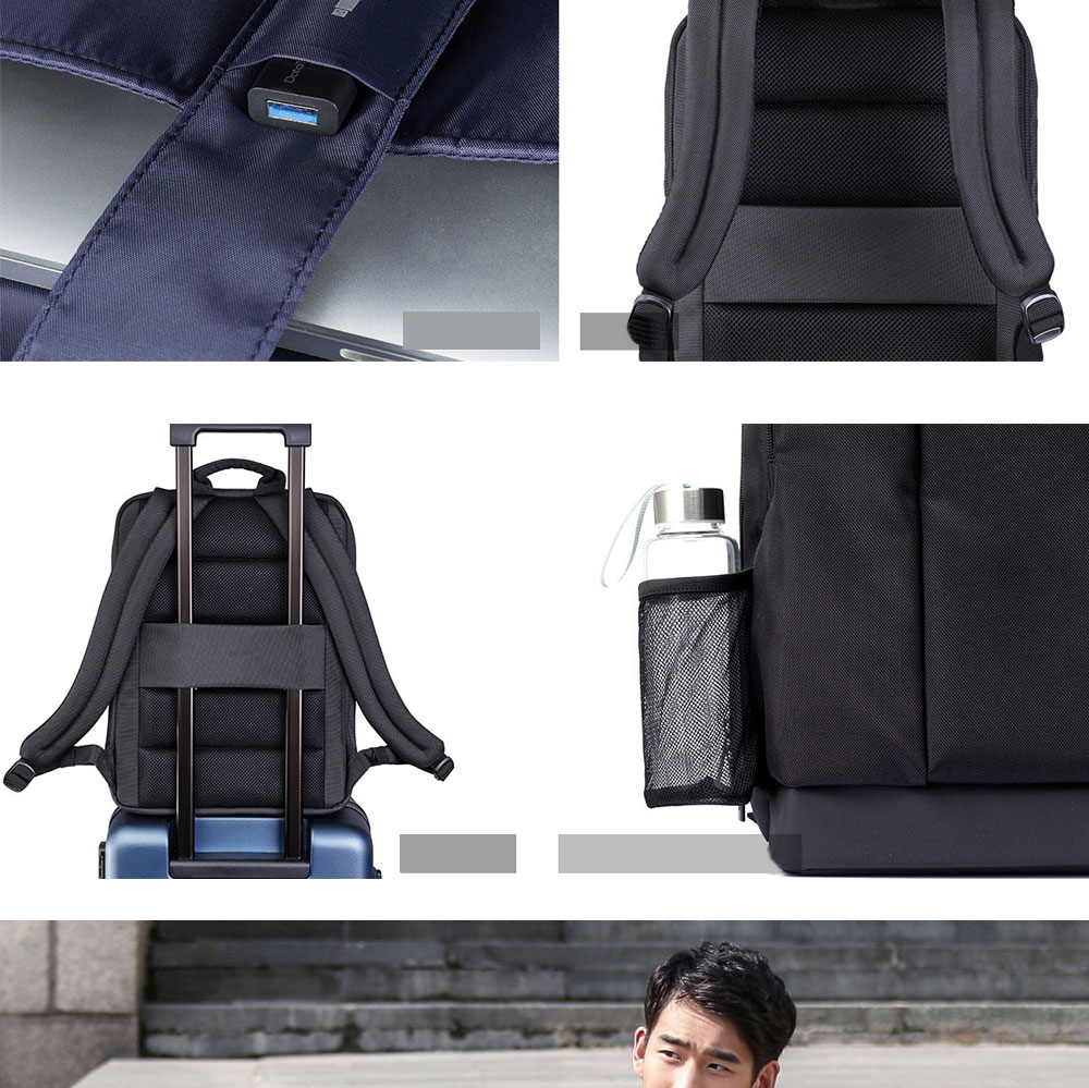 Original Xiaomi Backpack Classic Business Backpacks 17L Capacity Students  Laptop  Men Women Bag  For 15-inch Laptop OK (5)