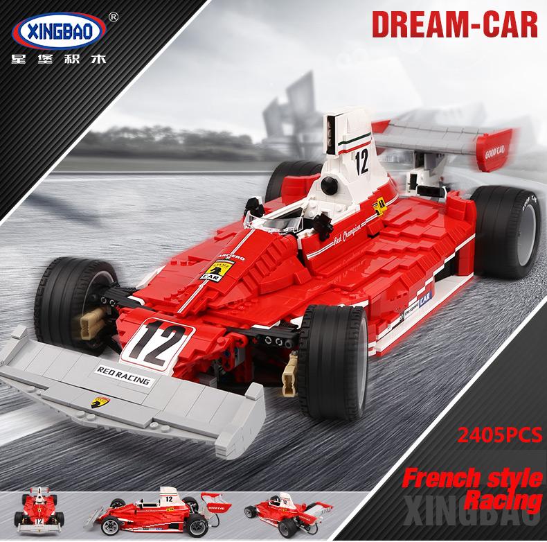 XingBao XB-03023 Red Power Racing Car Ferrariii 312T Building Block 5