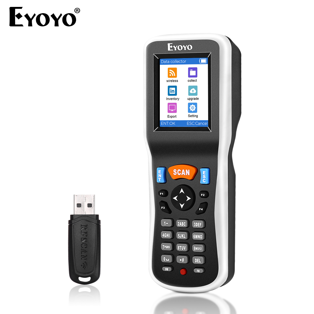Eyoyo Barcode Scanner Terminal Data-Collector Warehouse Inventory Wireless 1D PDT6000 title=