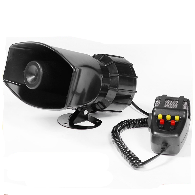 Alarm Siren Wire Outdoor Super-Car Sounder 120db 12V DC for Whistle Fire-Securit 100-Watt title=