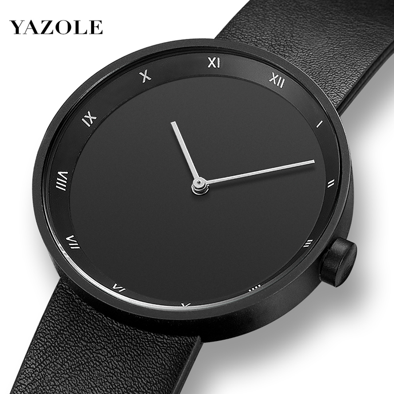 Montre Homme NEW Yazole Mens Watch Fashion Simple Luxury Watch Men Waterproof PU Strap Analog Quartz Watch For Men Heren Horloge