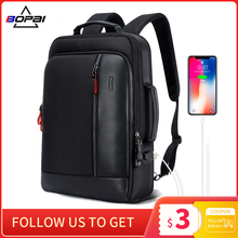 Laptop Backpack Enlarge Anti-Theft BOPAI Waterproof School Teenager Men