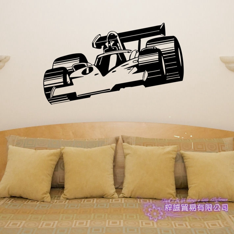 F1 Car Sticker Vehicle Decal Formula racing Cars Posters Vinyl Wall Decals Pegatina  Decor Mural Car Sticker