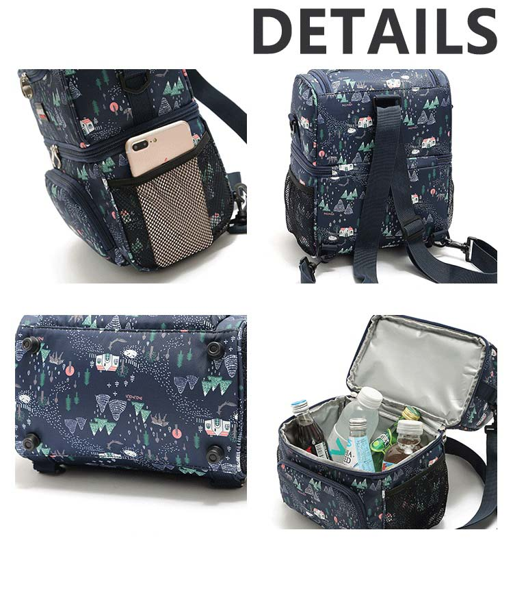 8.5L double partitions stylish cooler bag thermal picnic lunch box food drinks insulated backpacks ice pack insulation cool bag