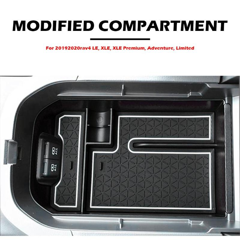 Cards Non-Slip Console Gear Storage Box Fit for 2019 2020 Toyota RAV4 Can Put Cellphone Wallets Center Console Organizer Tray