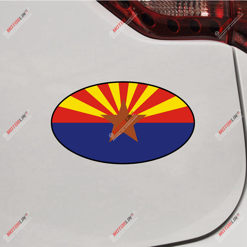 Auto Parts and Vehicles Car & Truck Decals, Emblems & License Frames Arizona Flag Map Decal Sticker US State Car Vinyl Reflective Glossy pick size