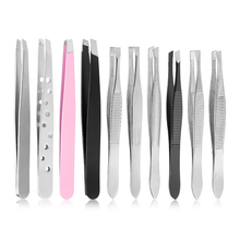 Clip Eyelash-Extension Eyebrow-Tweezers Hair-Pluckers Makeup Beauty-Tools Stainless-Steel