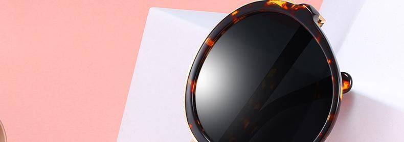 Women Sunglasses Frame Glasses Polariod Lens UV400 Polarized Sunglasses Women Fashion Round Frame Eyewear Glasses (2)