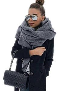 NDUCJSI Winter Shawl Blanket Female Wool Scarf Women Cashmere Scarves Thick Wrap Wide