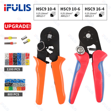 HSC9 6-4 crimping pliers adjustable wire stripping pliers crimping connector wire crimping ferrule terminal multi-function tool