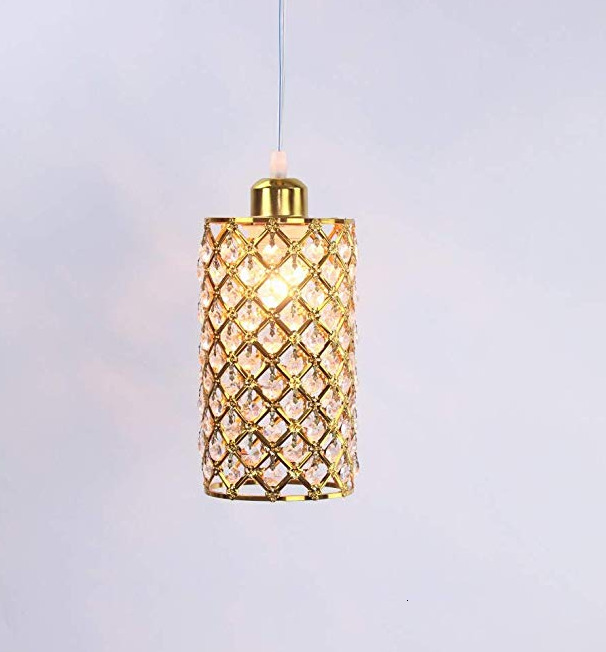 Contemporary Crystal Pendant Lighting Chandelier Tube Shape AC 90-260V Crystal Pendant Lighting Indoor Bedroom Decoration Hot