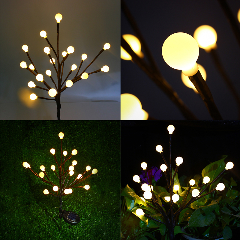 LED Solar Power Lawn Light Outdoor Garden Tree Light Boom Licht Waterproof Patio Christmas Tree Party Yard Landscape Luz solar led
