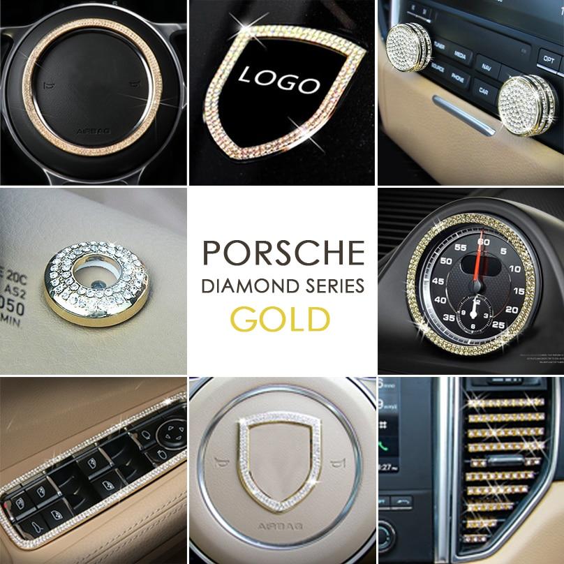 For Mini Cooper Rhinestone Diamond Bling Steering Wheel Decorative Cover Sticker