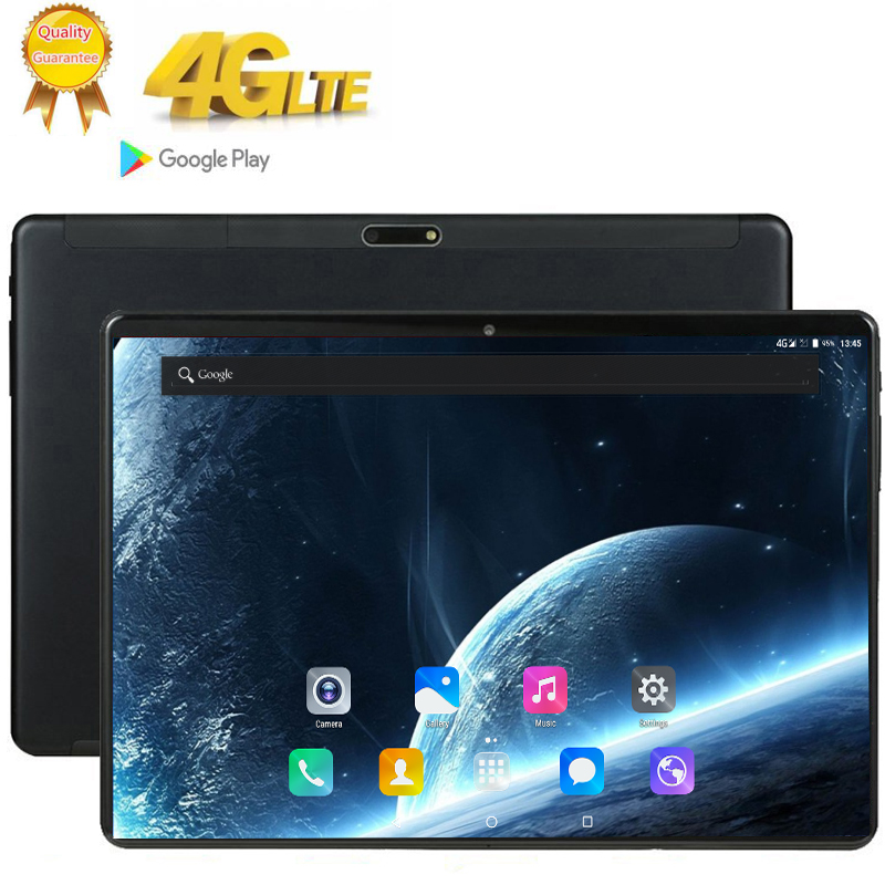 10inch Tablet Tab-Wifi Bluetooth LTE-PHONE 10-Core-Ram Android 4G Deca Call 8GB GPS 1920x1200 title=