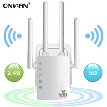 Router Wifi Repeater Range-Extender 1200mbps 4antenna Dual-Band Wireless Onvian
