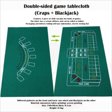 Tablecloth Game-Mat Blackjack Craps Non-Woven-Fabric 90x180cm Double-Sided-Game And
