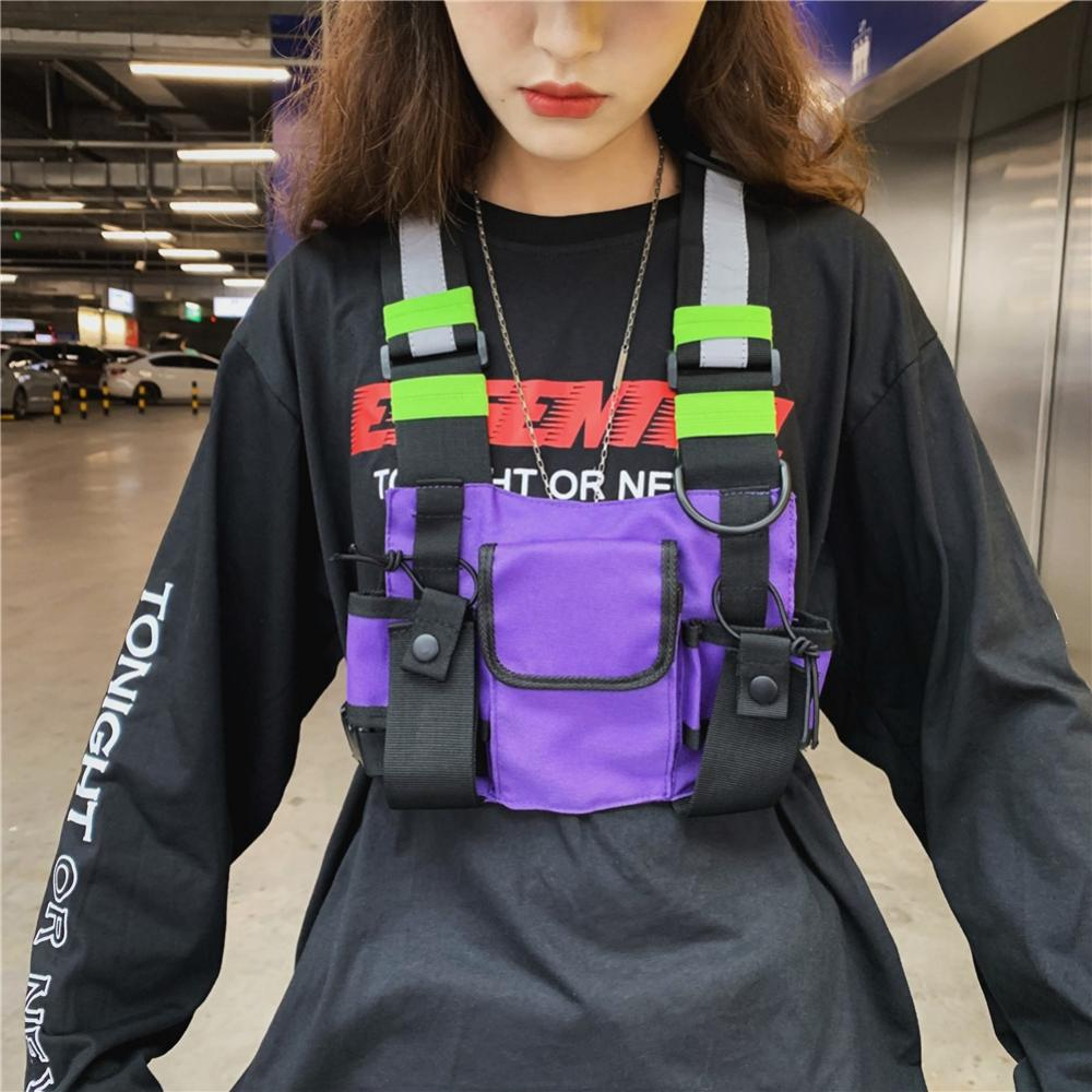 Backpack Chest-Bag Functional-Harness Fashion Women Vest Streetwear Front-Waist-Pouch title=