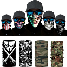 Scarf Headwear Motor Helmet Bandana Face-Shield Motorcycle-Tube-Bandana Bike Skull Cycling
