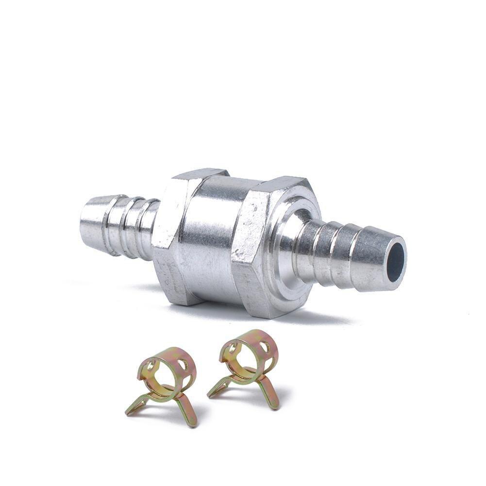 "1PCS Aluminium 8mm 5//16/"" Non Return Check Valve One Way Petrol Fuel Diesel BK"