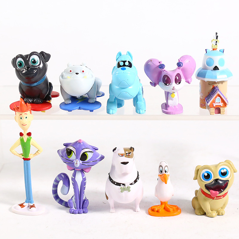 Disney Store Authentic BOB FIGURINE Cake TOPPER PUPPY DOG PALS Toy NEW