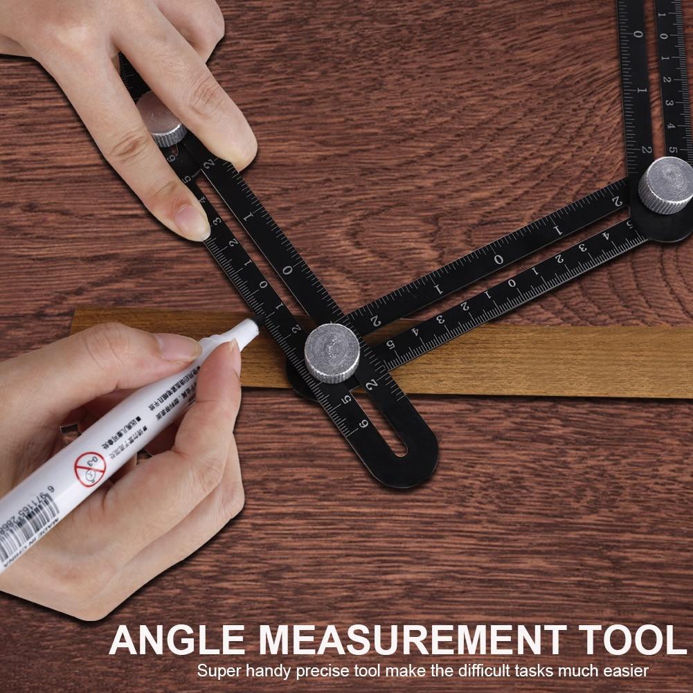 Multi Angle 6 pliant Measuring Ruler Céramique Trou localisateur de positionnement règle