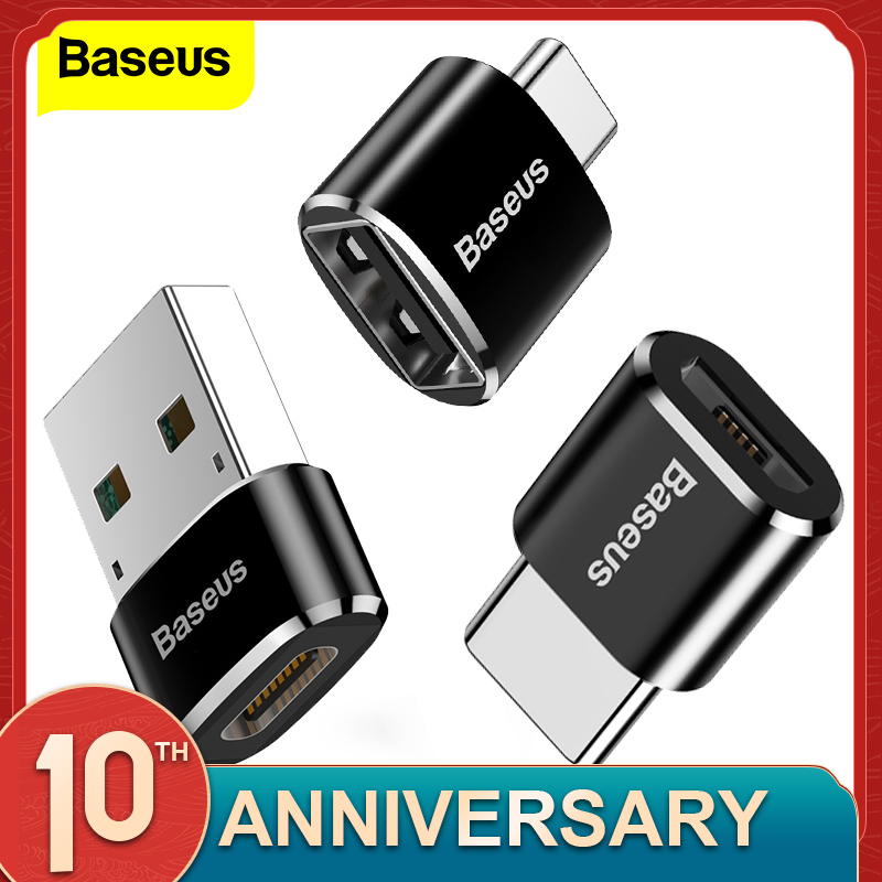 Baseus Cable-Converters Otg Adapter Usb-Type Micro-Usb Huawei Macbook Female Samsung title=