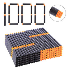 1000PCS Black Soft EVA Toy Gun Bullets 7.2cm*1.3cm Refill Darts For Nerf Series Blasters Xmas Kid Children Gift (New Arrival)